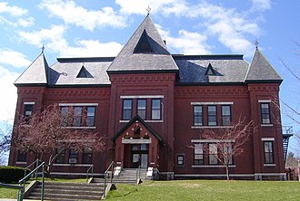 Brattleboro, Vermont - The Gothic Revival Municipal Center (1884), built as Brattleboro's High School, served the town in that capacity until 1951