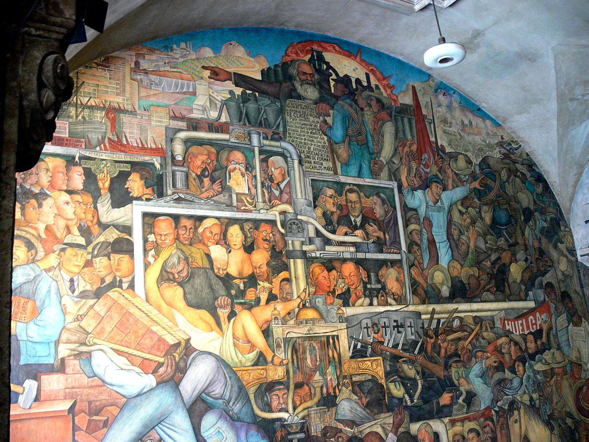 The history of mexico mural wikipedia for Diego rivera mural chicago