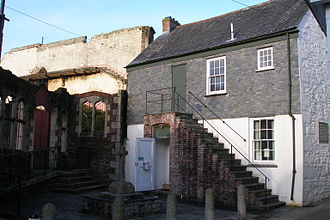 Street light - William Murdoch's house in Redruth, UK, the first domestic house lit by gas in the world