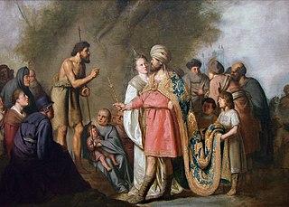 Saint Jean-Baptiste prêchant devant Hérode