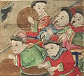 Musician detail, Art Gallery of Greater Victoria - Buddhist Ten Judgements of Hell - Korean, Yi Period - detail 01 (20333231229) (cropped).jpg