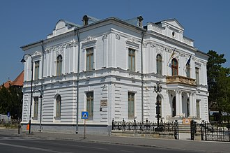Dâmbovița County - The Dâmbovița County prefecture building from the interwar period, now an art museum.