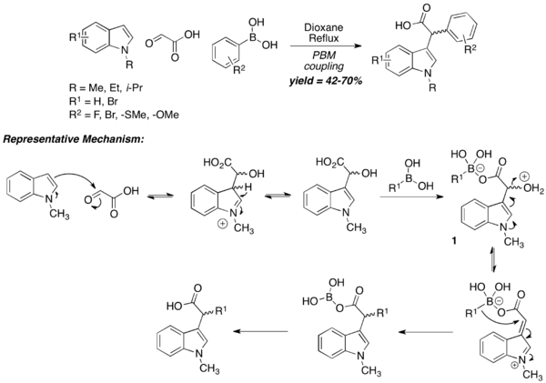 PBM coupling with N-substituted indole