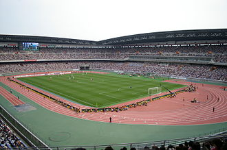 Yokohama F. Marinos - International Stadium Yokohama, one of the two home stadiums of the Yokohama F. Marinos