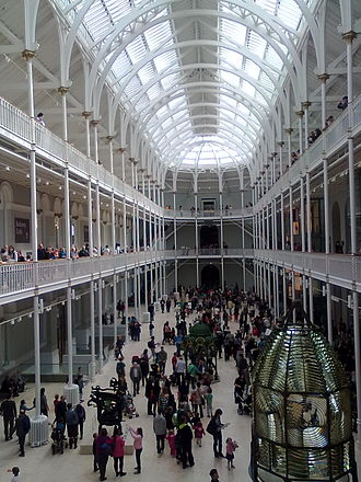 National Museum of Scotland - The Grand Gallery of the former Royal Museum building on reopening day, 29 July 2011