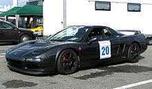 Race modified NSX in the paddock of the Hockenheimring