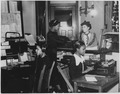 """NYA-Illinois-""""office personnel is supplied by NYA girls to colored YWCA in Chicago, one of the many tasks at which... - NARA - 195425.tif"""