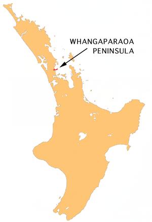 Whangaparaoa Peninsula - Location of Whangaparāoa Peninsula