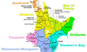 Waikato - Territorial authorities in Waikato region before 2010