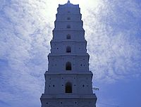 a close view of main minaret