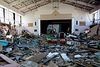 Nakano Elementary School's gymnasium after tsunami.jpg