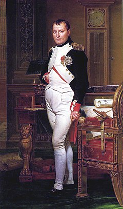 Napoleon in his study by Jacques-Louis David (1812)