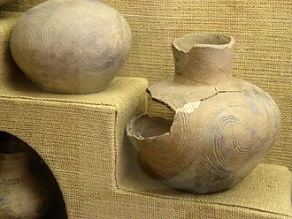 Natchez people - Mississippian culture pottery from the Grand Village of the Natchez historic site