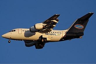 Cobham Aviation Services Australia - National Jet Avro RJ70 at Perth Airport (2003).