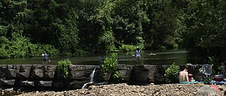 Natural Dam, Arkansas - Lee Creek and the Natural Dam