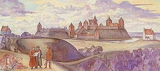 Navahrudak Castle - Image: Navahradak Rekanstrukcyja (Viktar Staščaniuk) 3