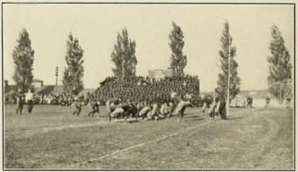 Navy–Johns Hopkins football rivalry - Image: Navy Johns Hopkins game 1911