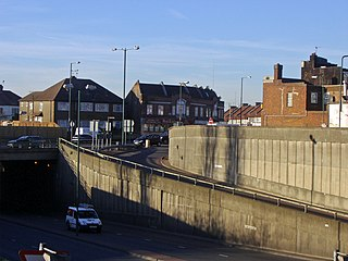 Neasden area of west London in the borough of Brent