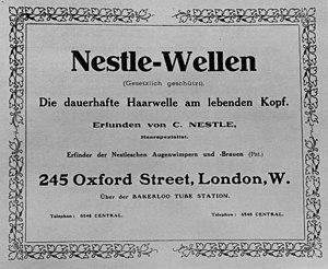 Karl Nessler - Image: Nestledadlondon 1908