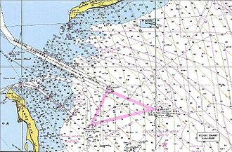 Ambrose Channel - Nautical chart showing southern end of Ambrose Channel