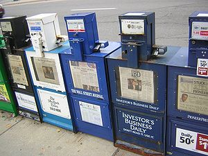 Politico-media complex - Newspapers, as seen here, are easily available in many parts of the world.