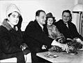 Nicolay Basov and Aleksandr Prokhorov with wives 1964.jpg