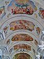 Niederaltaich Klosterbasilika St. Nikolaus Innen Gewölbe 1.JPG