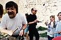 Nigel Osborne & Brian Eno at Mostar 1994-95.jpg