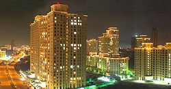 Hiranandani Estate located in Patlipada at Night
