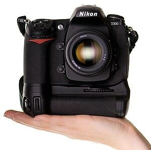 Nikon D300 digital SLR camera.
