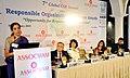 Nirmala Sitharaman addressing at the 7th Global CSR Summit cum Responsible organisation excellence awards presentation function, in New Delhi on February 20, 2015.jpg