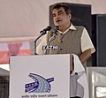 Nitin Gadkari addressing at the foundation stone laying ceremony of Delhi-Saharanpur National Highway, in Saharanpur, Uttar Pradesh on September 11, 2018.JPG