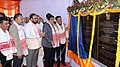 Nitin Gadkari laid the foundation stone of project for protection of Majuli Island from erosion, at a function, at Rawnapara, Majuli.jpg