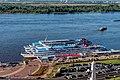 Nizhny Novgorod. Cruise ship Semyon Budyonnyy, Khirurg Razumovskiy and Nizhny Novgorod P8132562 2200.jpg