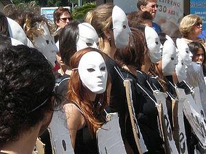 2009 May Day protests - Demonstrators in Málaga, Spain