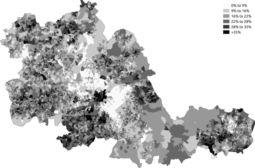 Noreligion West Midlands 2011 census