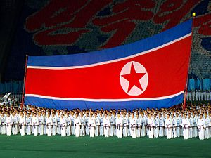 Flag of North Korea - Image: North Korea Pyongyang Arirang Mass Games 03