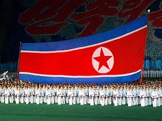 Flag of North Korea - Image: North Korea Pyongyang Arirang Mass Games 03