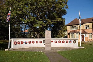 North Weald Airfield - The RAF North Weald Memorial with the Norwegian Memorial at the centre