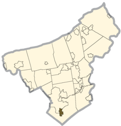 Location of Hellertown in Northampton County