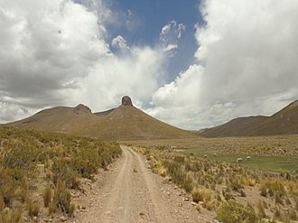 "José Manuel Pando Province - Nuñu Qullu (""breast mountain"") in the Santiago de Machaca Municipality"