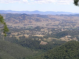 Nundle, New South Wales - Nundle valley from the Hanging Rock lookout