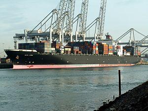 Nyk Lyra, at the Amazone harbour, Port of Rotterdam, Holland 24-Jan-2006.jpg