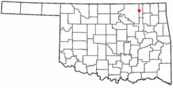 Location of Bartlesville within Oklahoma