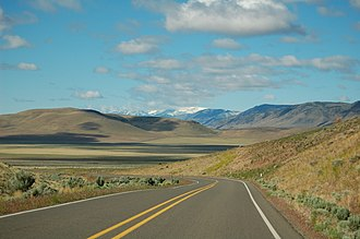 Oregon Route 78 - Steens Mountain from OR 78