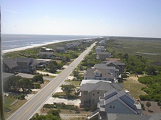 Caswell Beach, North Carolina - View from the Oak Island Lighthouse looking west