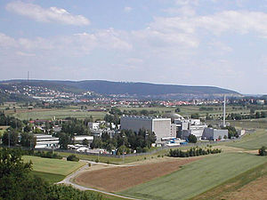 Obrigheim Nuclear Power Plant - View of the nuclear power plant
