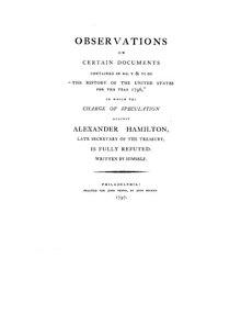 photo relating to Hamilton Lyrics Printable named The Reynolds Pamphlet (tune) - Wikipedia