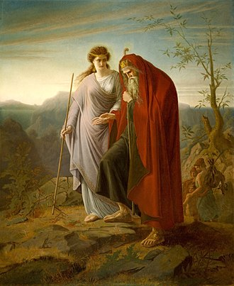 Antigone - Image: Oedipus and Antigone by Franz Dietrich