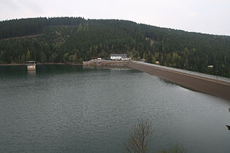 The Ohra Dam Ohra-Talsperre Dam from south.jpg
